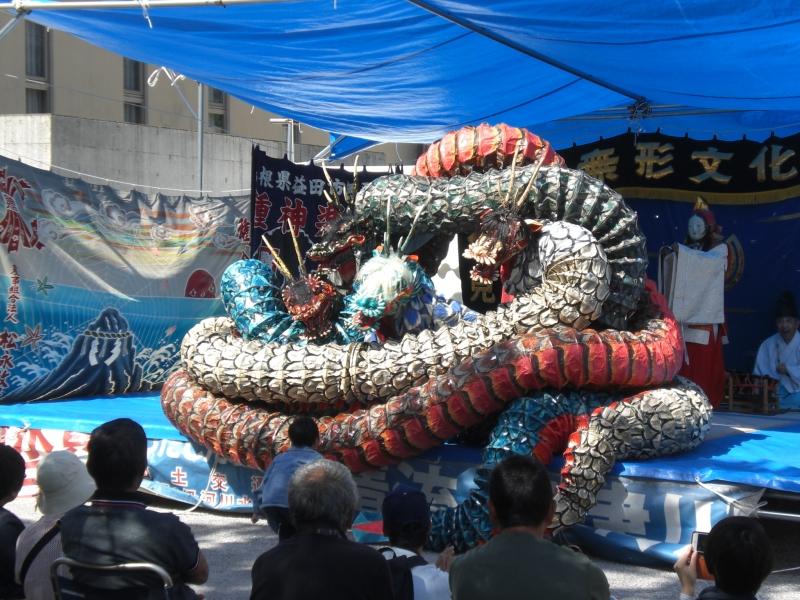 Kagura Performance: Orochi (Eight-headed-serpent)