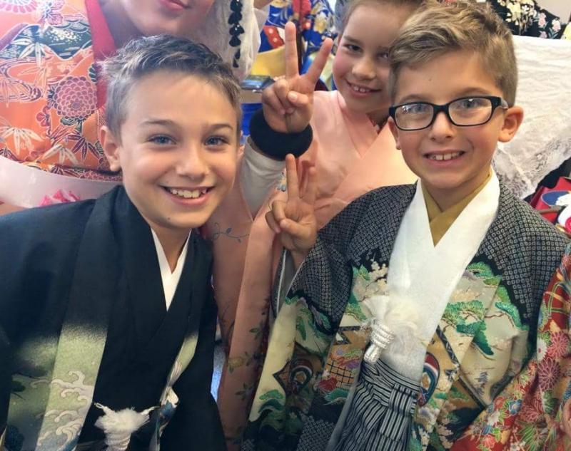 Kimono experience and walk around Osu