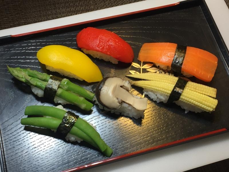 Vegetable sushi, option