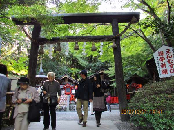 Nonomiya Shrine black Torii Gate