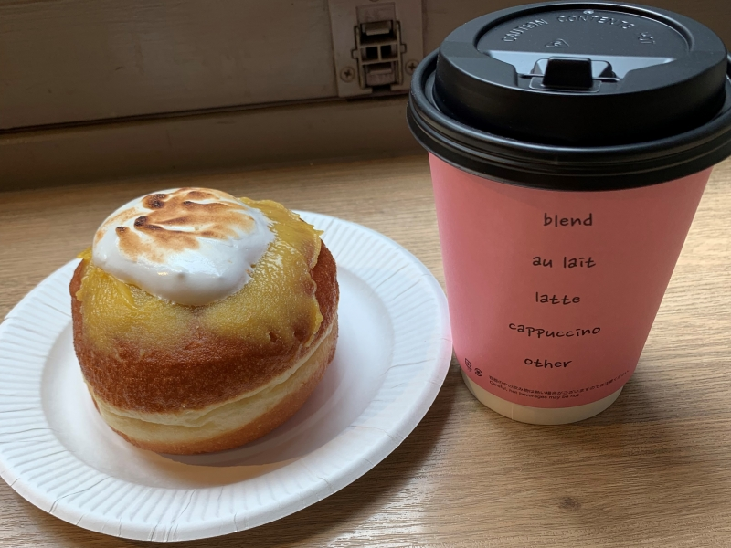 Yummy donuts with a good coffee.