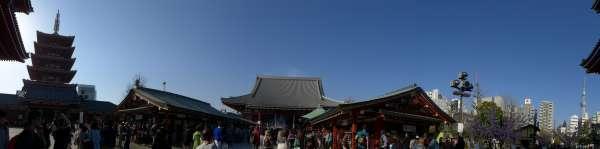 The main building of Asakusa temple