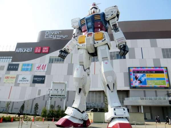 Odaiba , estatua de GUNDAM