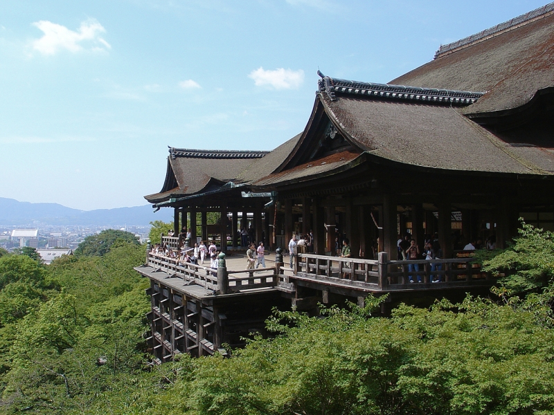 Kiyomizu temple Among enormous number of temples in Kyoto,  here is the most popular among Japanese and foreigners