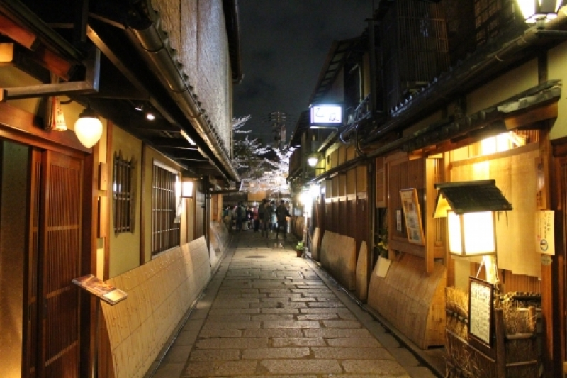 Night view of Gion area