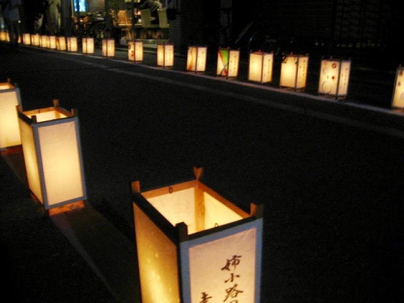 Ane-kohji street, lots of lanterns are lining along this street.