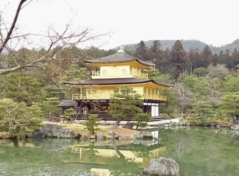 Golden Temple, or Kinkaku-ji Temple.