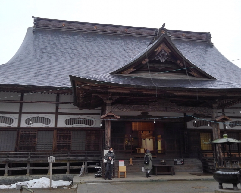 Main Hall of  Chusonji Temple. There are some other small halls in the precinct.
