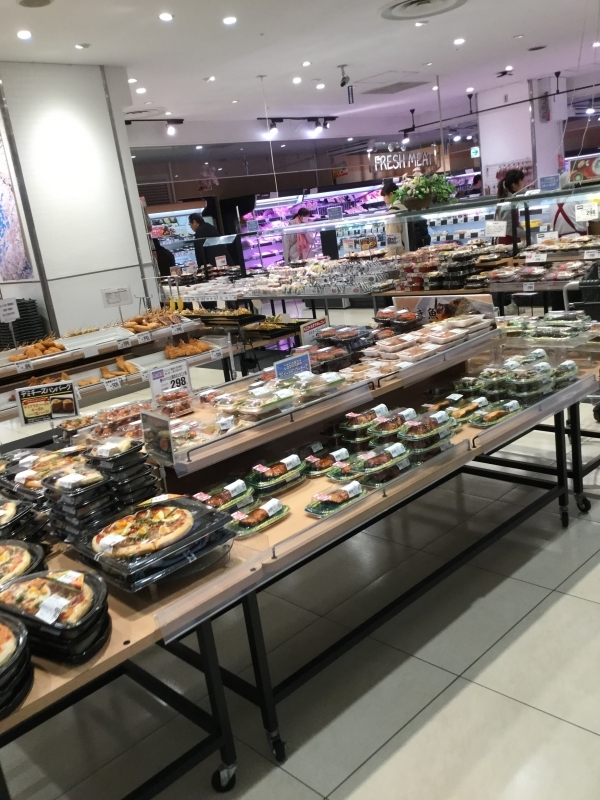 Or just buy ready to eat foods like yakitori chicken, sushi and pork cutlet.