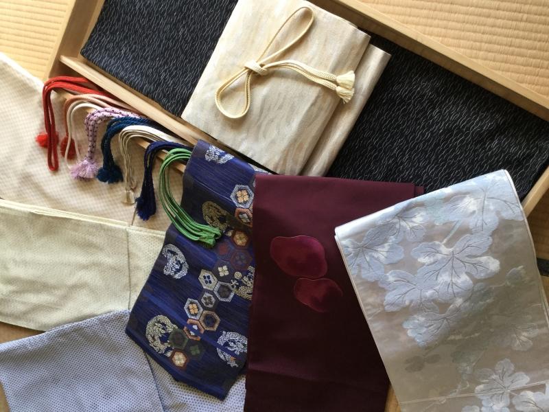Authentic Japanese kimonos and sashes