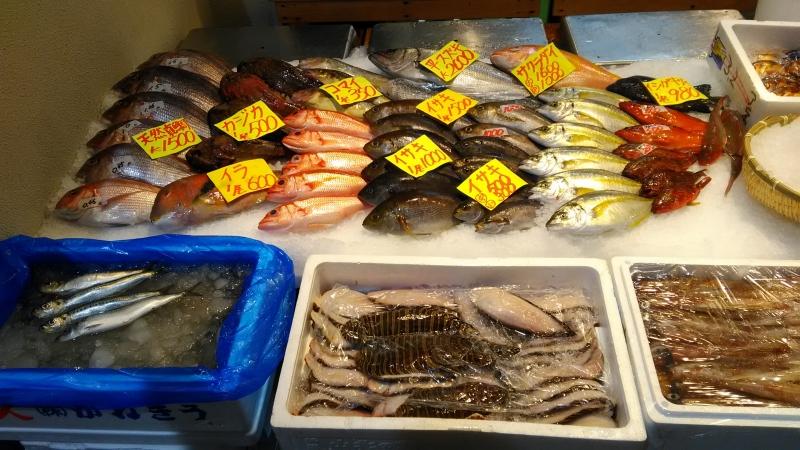 Como una opción, pueden ir al mercado exterior de Tsukiji. Aquí no se hace la subasta de pescado,pero se sentirían el ambiente animado.
