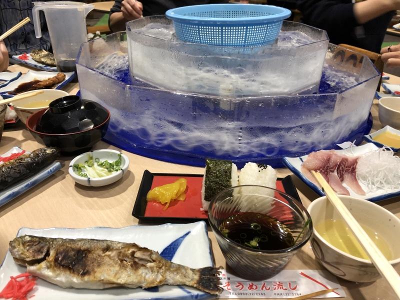 Lunch, somen nagashi fine noodle