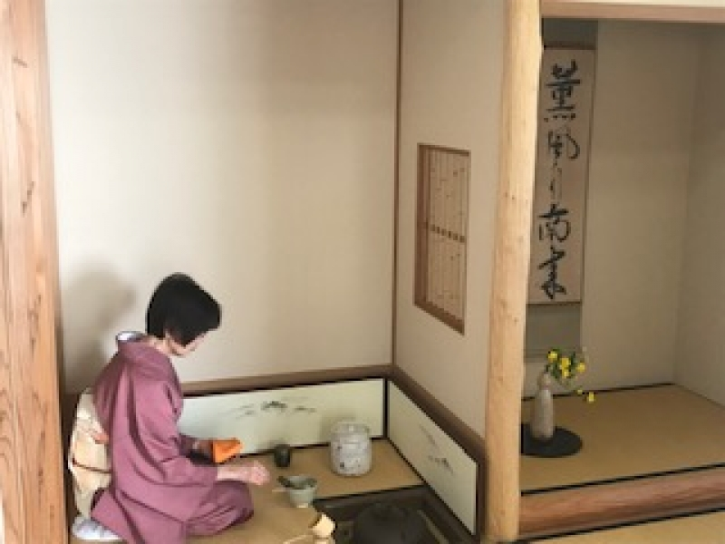Tea ceremony will be served in an authentic way