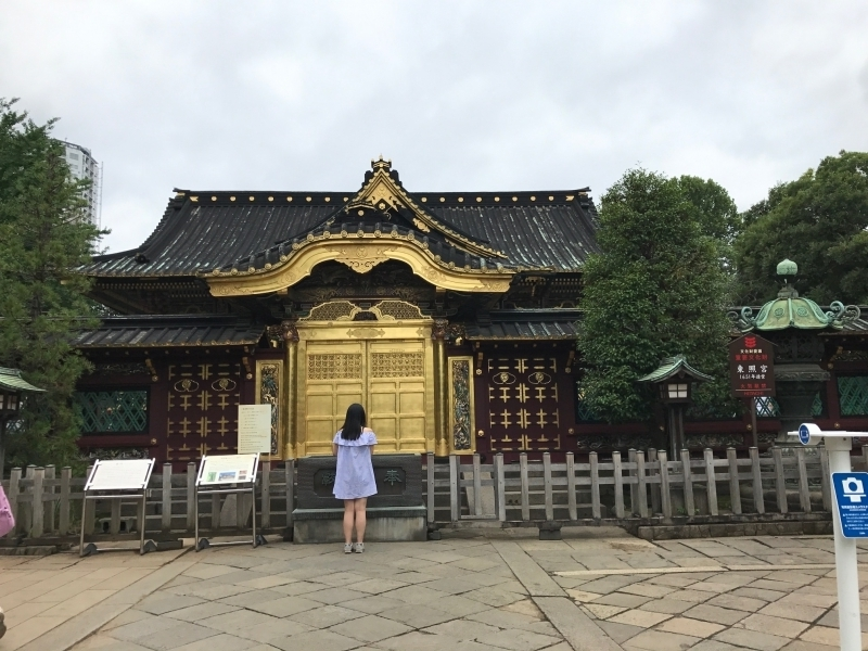 Ueno Toshogu.,constructed in 1645.  an important cultural property