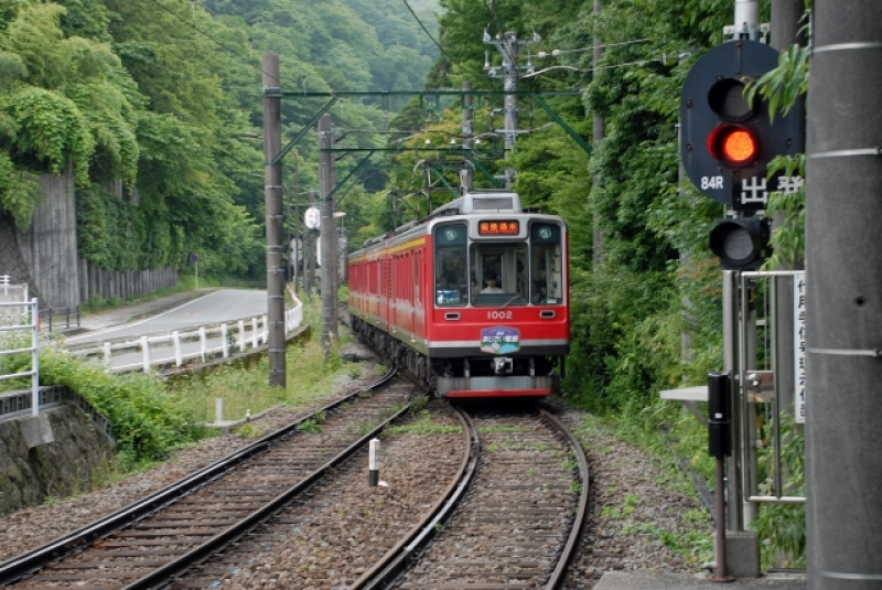 Tozan Train (Mountain Tram) will take you to deep nature. Enjoyable throughout the year.