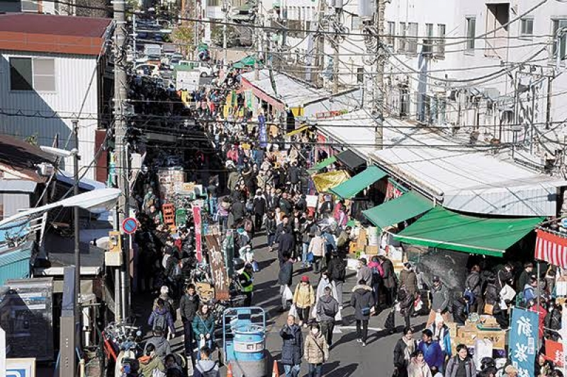 Japan's busiest Tsukiji outer market. Always fresh food and lively atmosphere