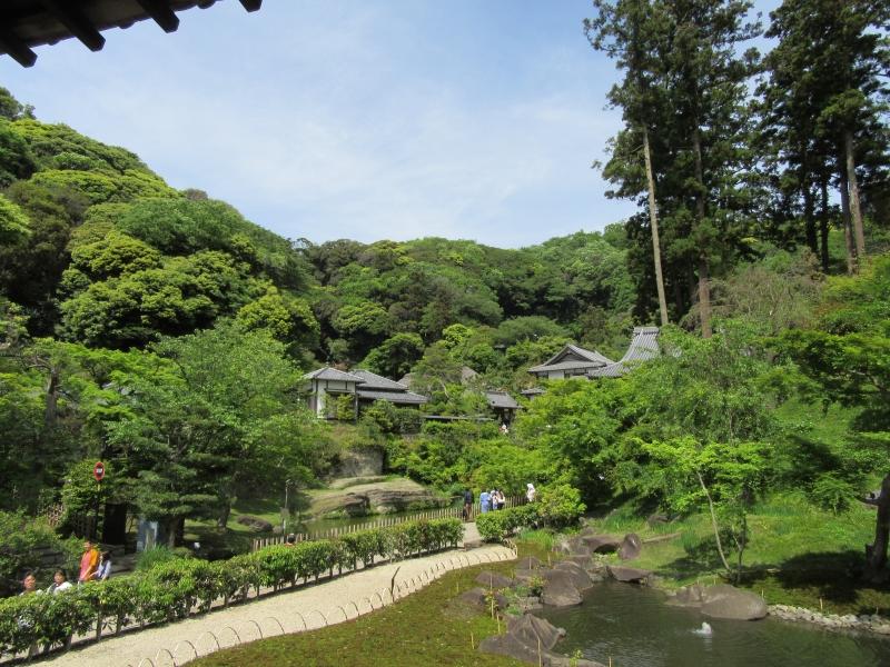 Japanese garden at Engaku-ji temple