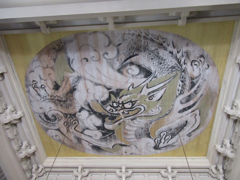 Unryu-zu, or a pictue of a dragon and clouds at Kencho-ji temple