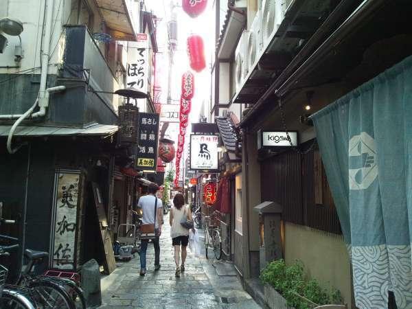 Old Hozenji Yokocho Alley in Dotombori