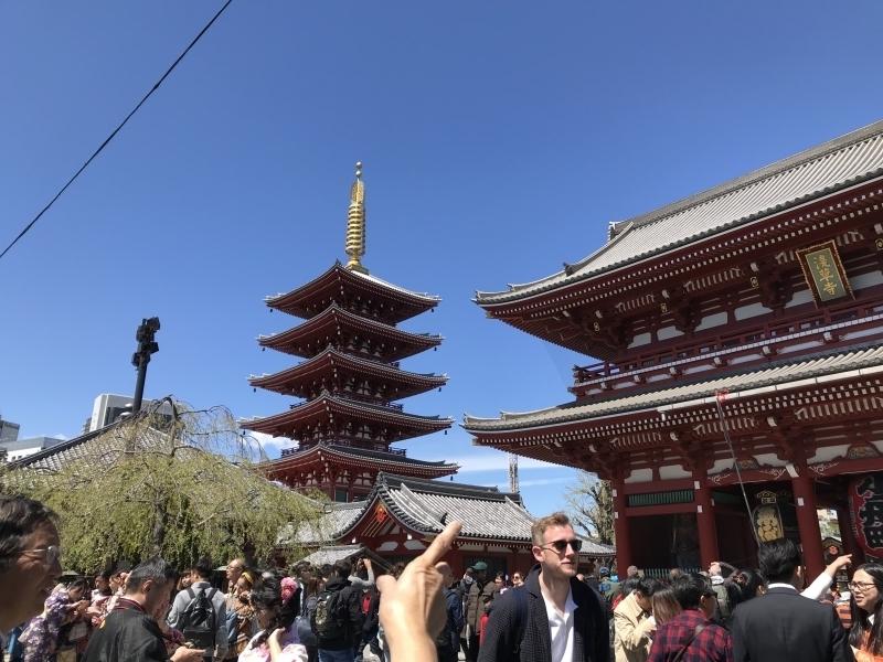 Down town Tokyo - River cruise & wearing Kimono and strolling through Asakusa area