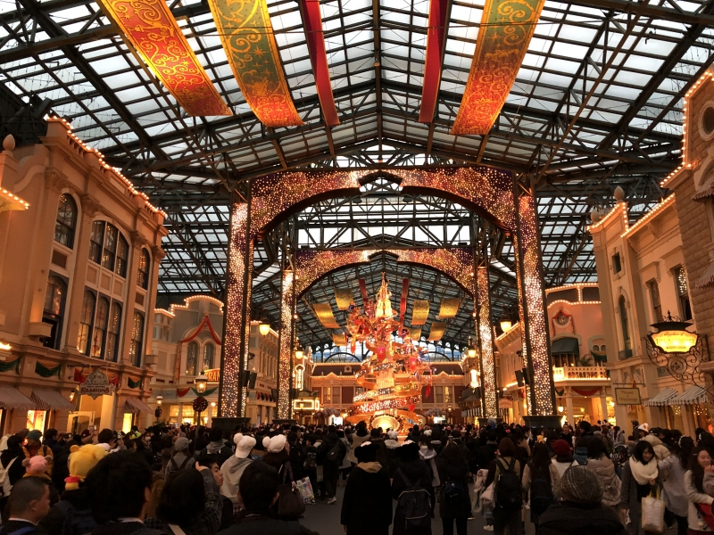 Christmas decoration in Tokyo DisneyLand