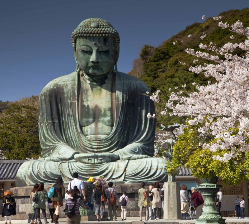 The Greatest Buddha Statue at Kokuin Temple - The biggest statue in Japan.
