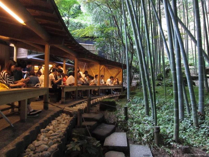 Kamakura's Hokokuji Temple with an elegant Japanese Tea House in the Forest