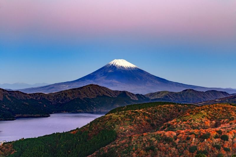 Mt. Fuji and Lake Ashinoko