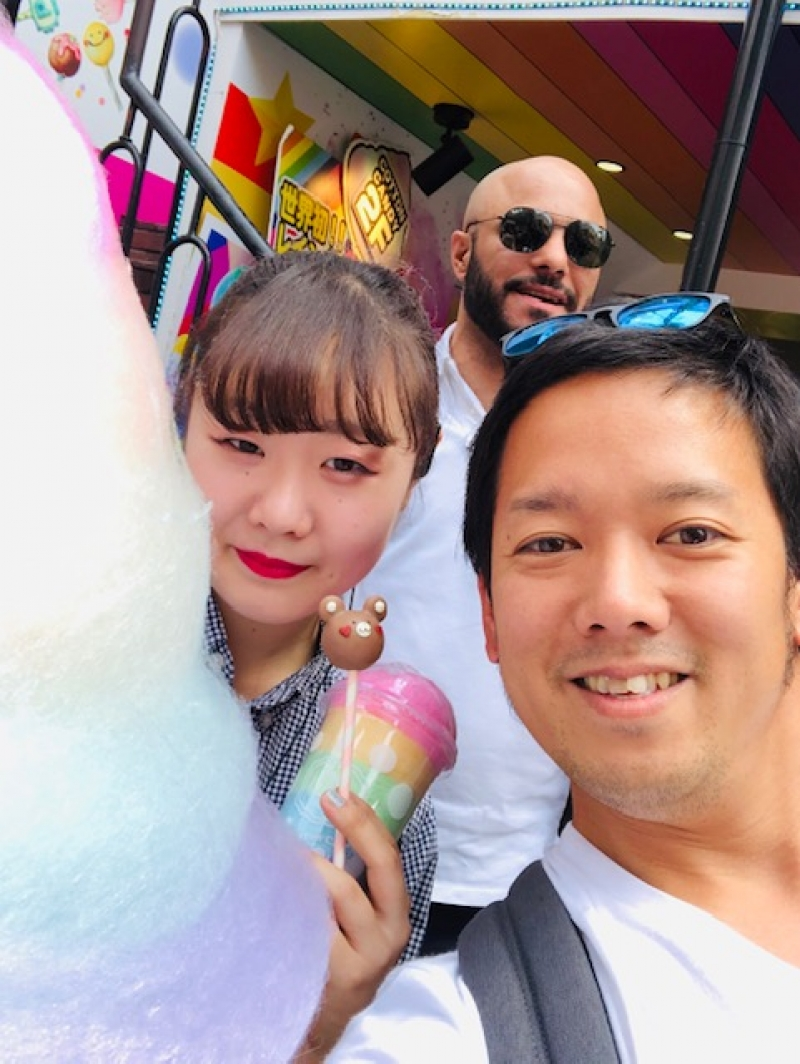 Crazy rainbow cotton candy