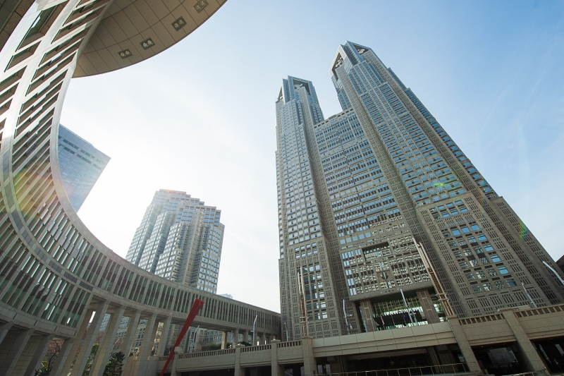 Tokyo Metropolitan Government Building's Observatory, where you can enjoy a splendid view of Tokyo free of charge!