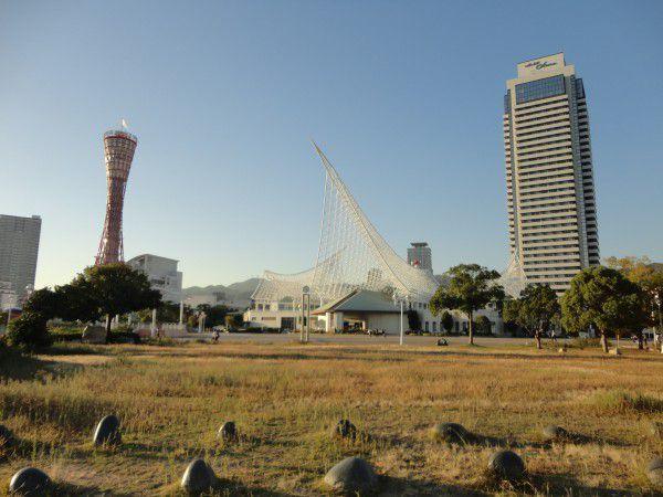 Red Port Tower of Kobe  Kawasaki Marine Museum   and Hotel Okura