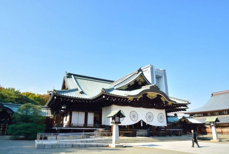 """""""Yasukuni Jinjya"""" shrine famous for its 500 trees of cherry blossoms in the compound. Beautiful in spring"""