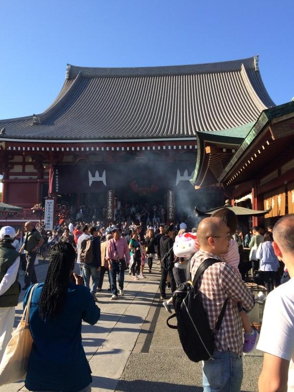 Sensoji Temple and smoke from the incense burner