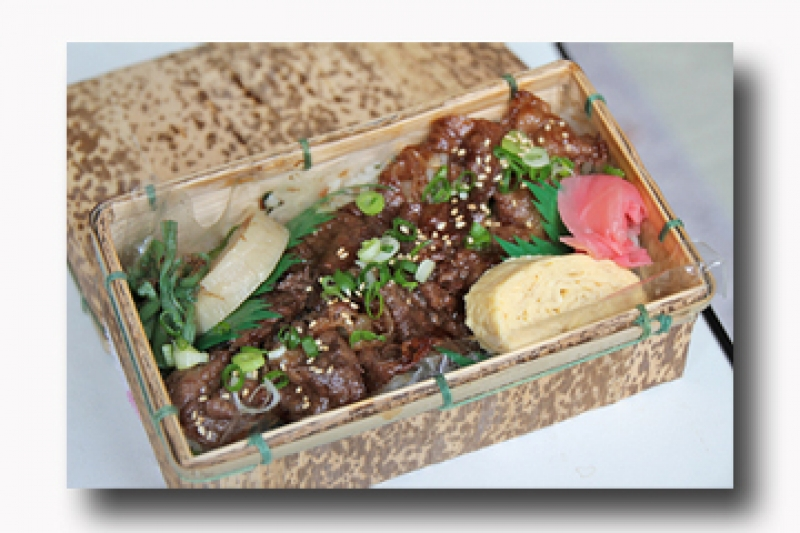 Hand-made lunch box: Beef (1100JPY)