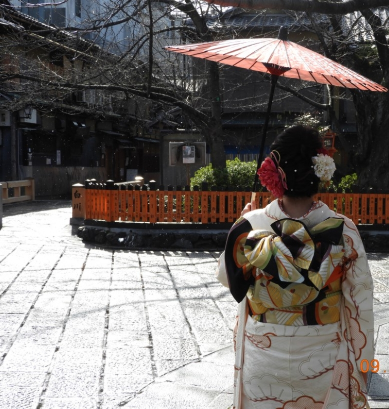 Tatsumi bridge in Gion