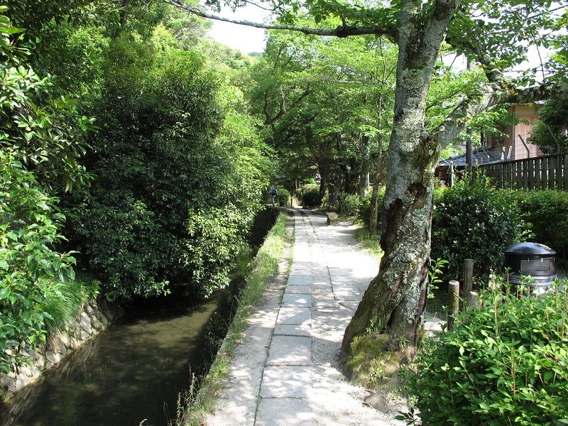 Philosopher's Walk...Beautiful stone path along the canal offering some pleasant relief from the heat of downtown Kyoto