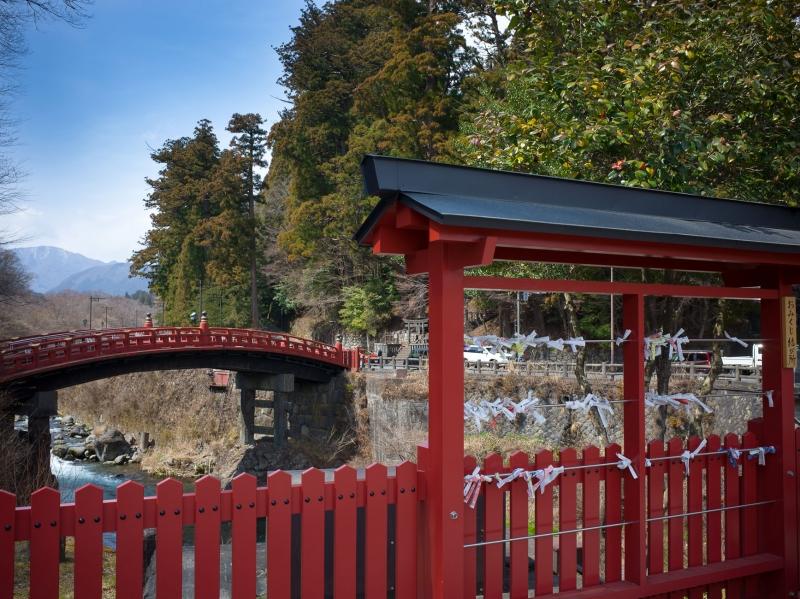 Shinkyo Brigde (Sacred bridge)  - beautiful vermillion bridge is entrance for Nikko Mountain.