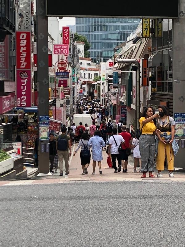 Takeshita street, shopping street at Harajuku