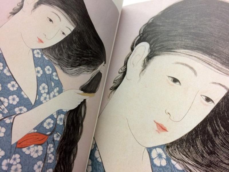 Ukiyo-e of a Japanese woman created by Hashiguchi Goyo