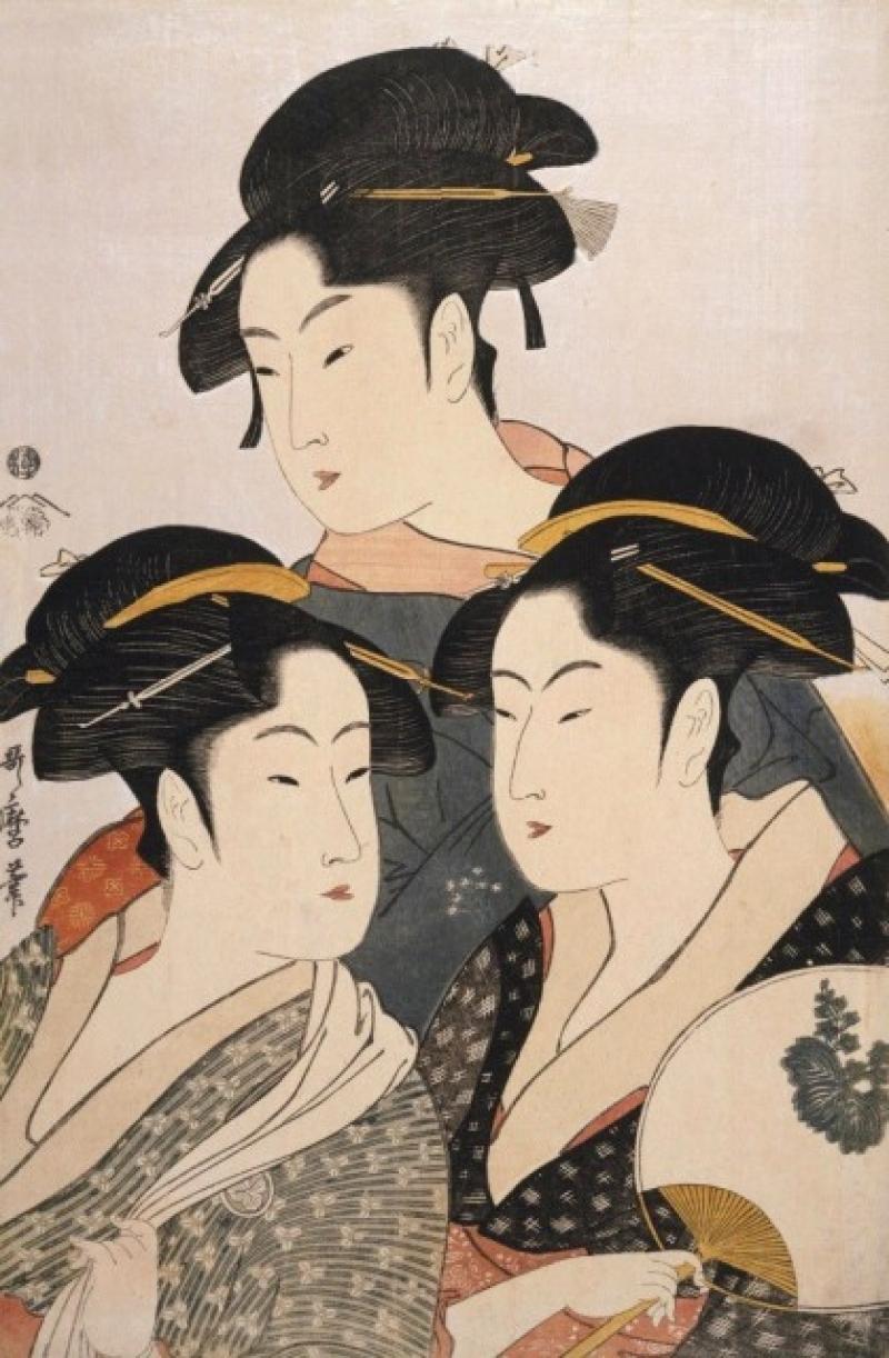 One of the famous Ukiyo-e artworks