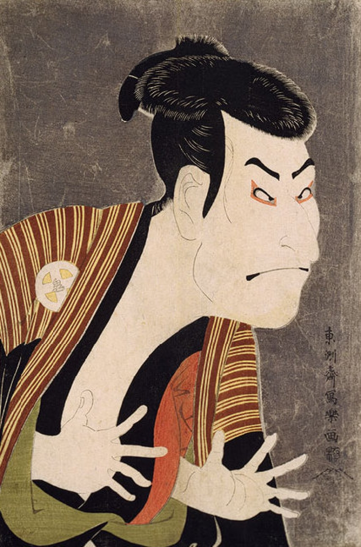 The famous Ukiyo-e of a Kabuki actor