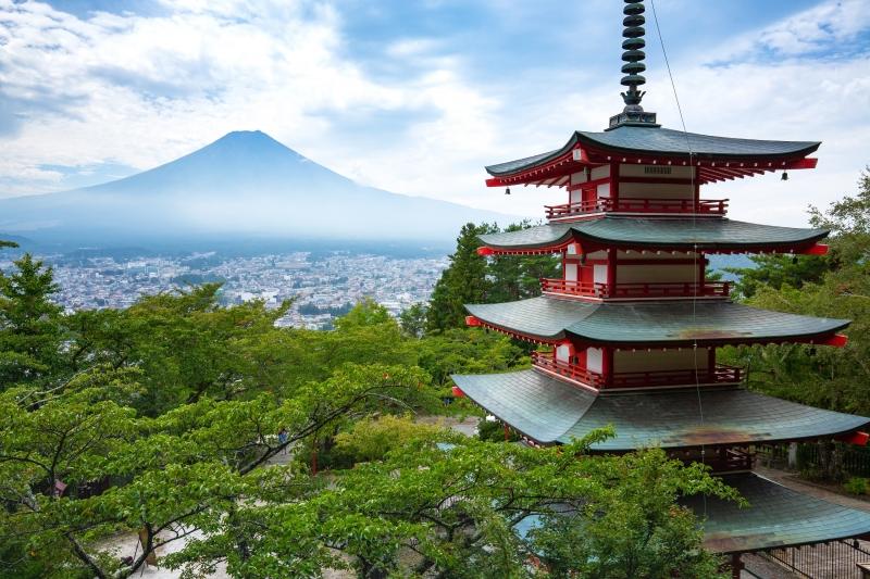 Chureito Pagoda in Mt. Nikura Asama Park