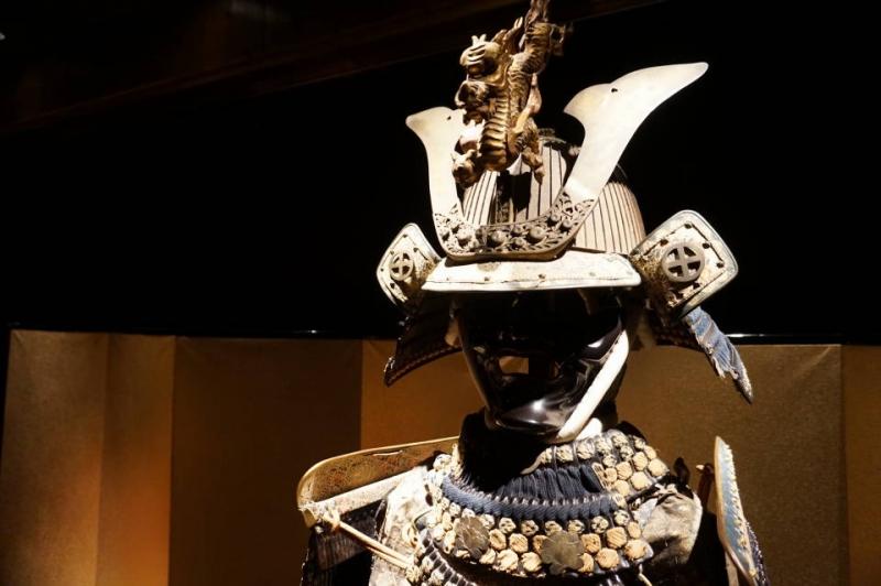 Middle aged Samurai armour at Samurai Museum in Shinjuku