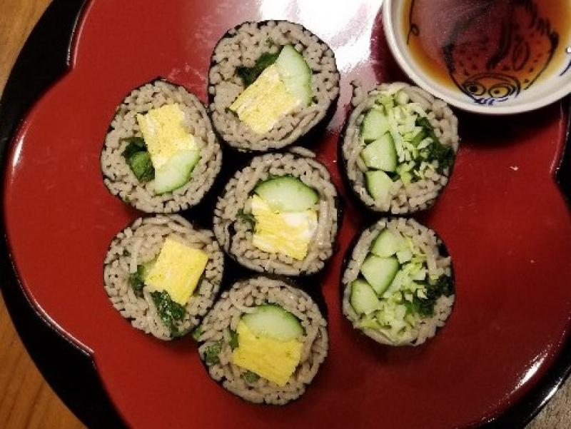 Soba-zushi (Rolled Buckwheat Noodles)