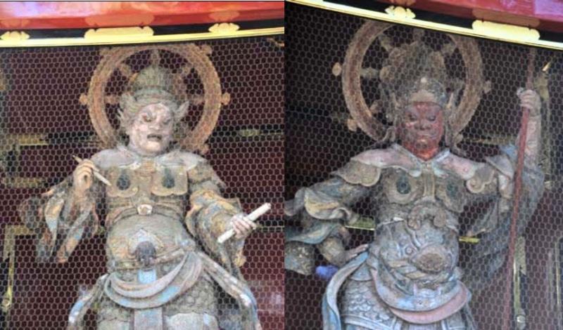 Komokuten and Zikokuten in the Nitenmon Gate, Zojoji temple