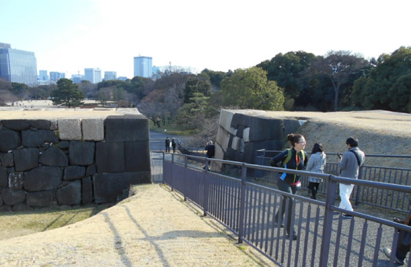 The top of the Imperial Palace's Castle Tower