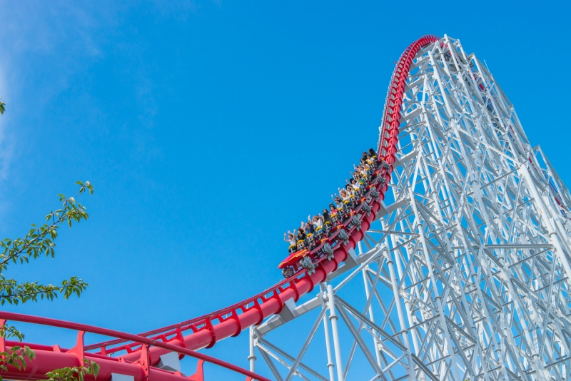 Nagashima Spa Land-Steel Dragon 2000 the highest & longest roller coaster in the world!