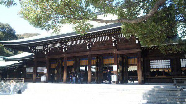 Meiji-JIngu Haupthalle vom Schrein (Main Hall)