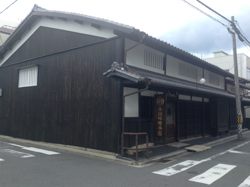 This Miso(fermented soy beans paste) shop has over 200 years history. But it is not so old as compared with average in Kyoto shops' history.