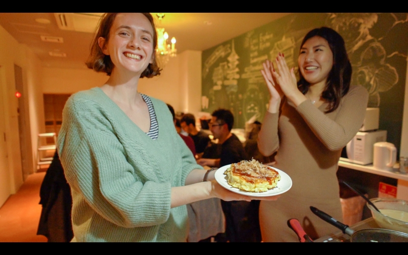 Cooking Gyoza and Okonomiyaki and tasting Sake with Local!